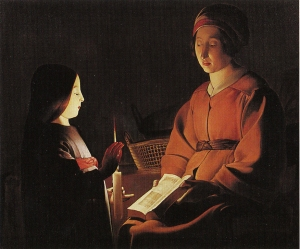 de la Tour Education of the Virgin